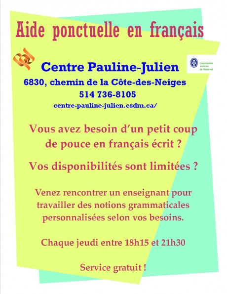Aide ponctuelle en français